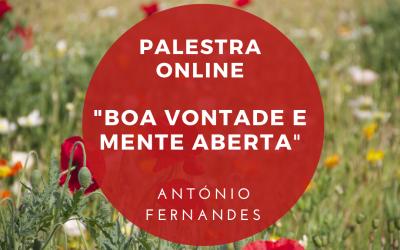 "Palestra Online: ""Boa Vontade e Mente Aberta"""