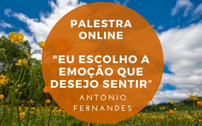 """Palestra Online: """"Eu escolho a emoção que desejo sentir"""""""